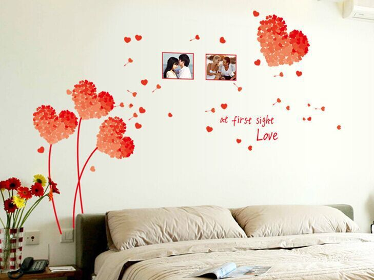 Charmant Heart 3d Wall Stickers Pink Love Decoration Heart Wall Stickers Wedding  Decoration Home Decoration Wall Decor Vinyl AY7176 In Wall Stickers From  Home ...