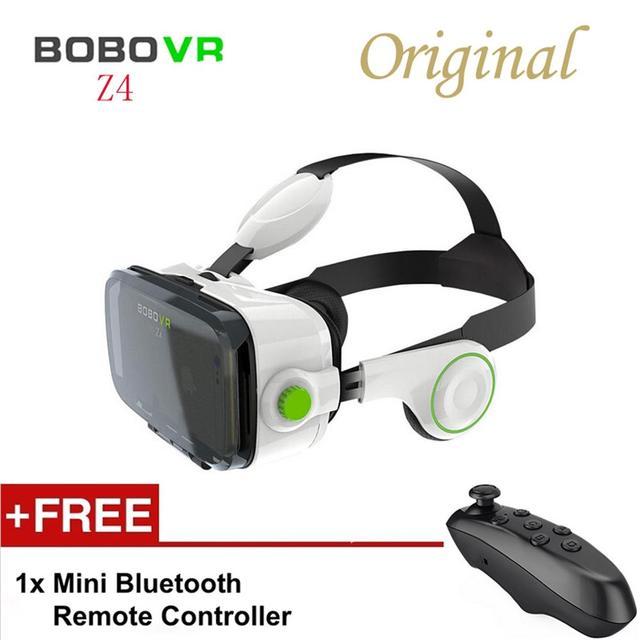 Оригинал Bluetooth Remote Control BOBOVR Z4 Виртуальная Реальность 3D очки 120 Градусов FOV Гарнитура 3D Фильм Видео Игры Для Наушников
