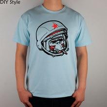 Animal Science Fiction Space Astronauts Nasa Cccp Tide Male t-shirt Fashion Brand T Shirt Men New Diy Style High Quality