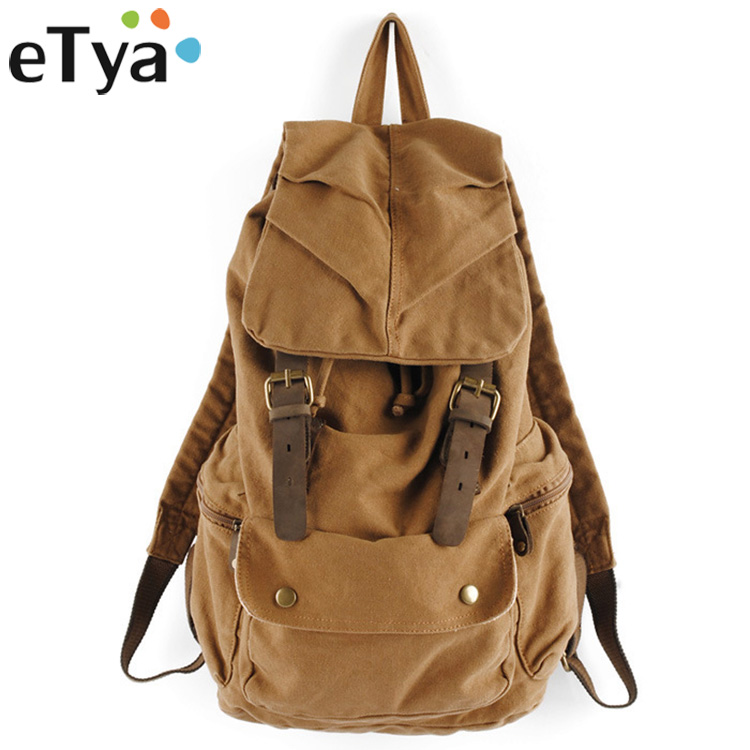 eTya Brand Teenage Backpacks for Girl Boy Backpack Travel Luggage Bag Women Men Large Capacity Bags Student Fashion Canvas Bag
