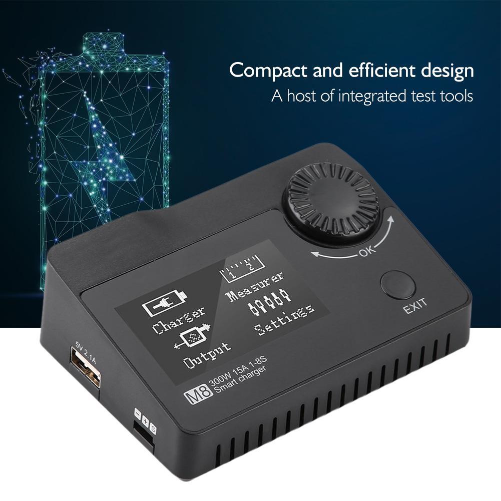 ToolkitRC M8 300 W 15A 2 8 S LiPo chargeur de batterie chargeur de cellule vérificateur Servo testeur Lipo batterie pour RC FPV Drone de course-in Pièces et accessoires from Jeux et loisirs    1