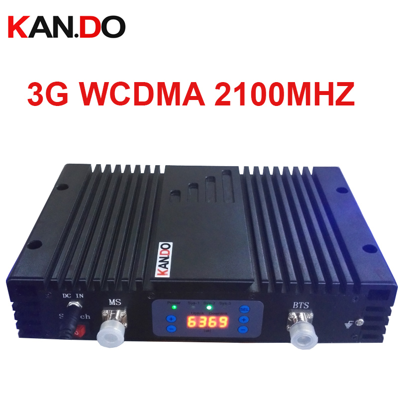 No Interfer To Base Station 70dbi 3G Repeater AGC/MGC 3G 2100MHz Signal Booster WCDMA BOOSTER Repeater HIGH QUALITY