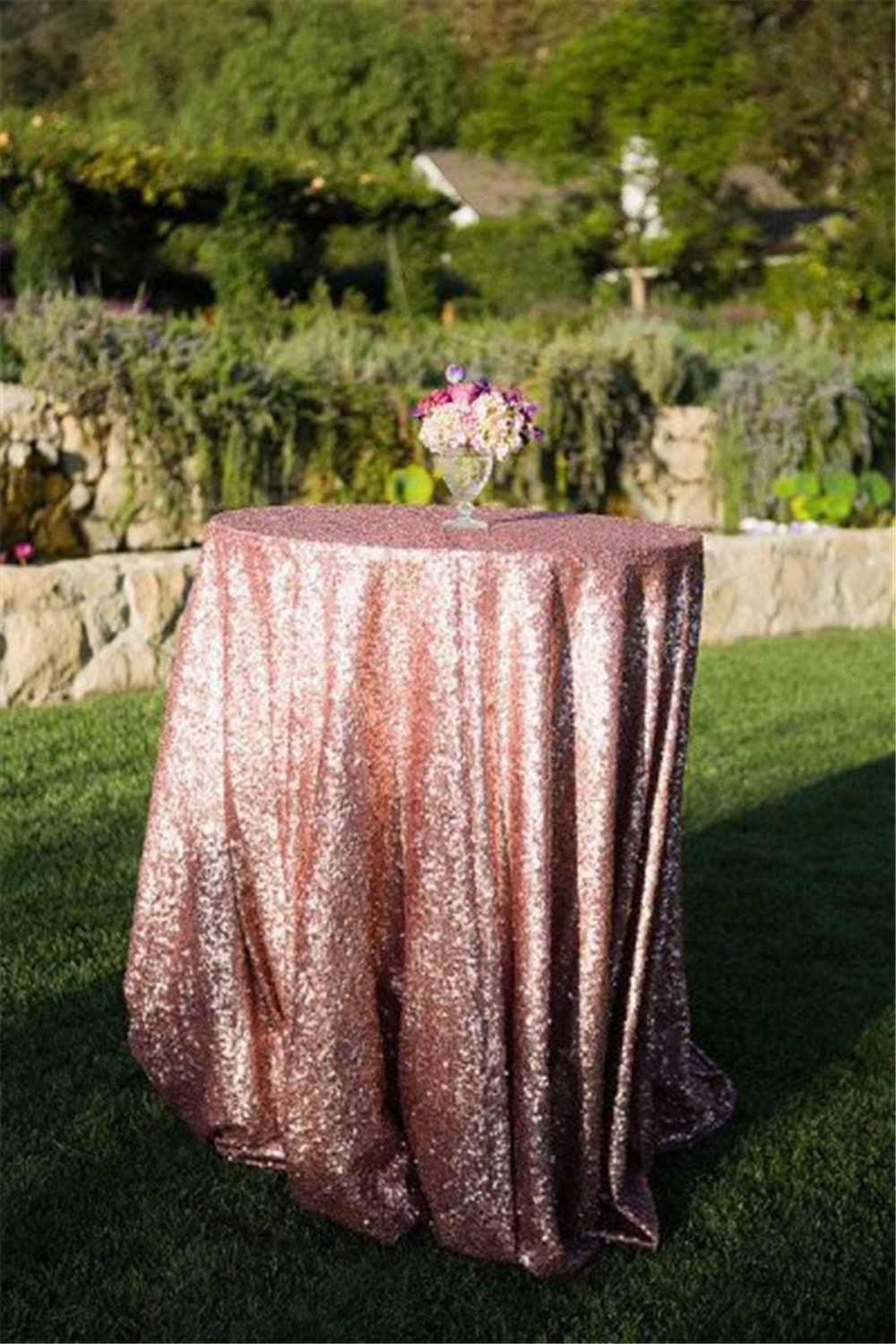 Table Cloth For Round Table Compare Prices On Round Gold Tablecloth Online Shopping Buy Low