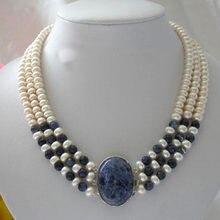 Жемчужное ожерелье классика 3 ряда 7 8 мм круглый белый пресноводный