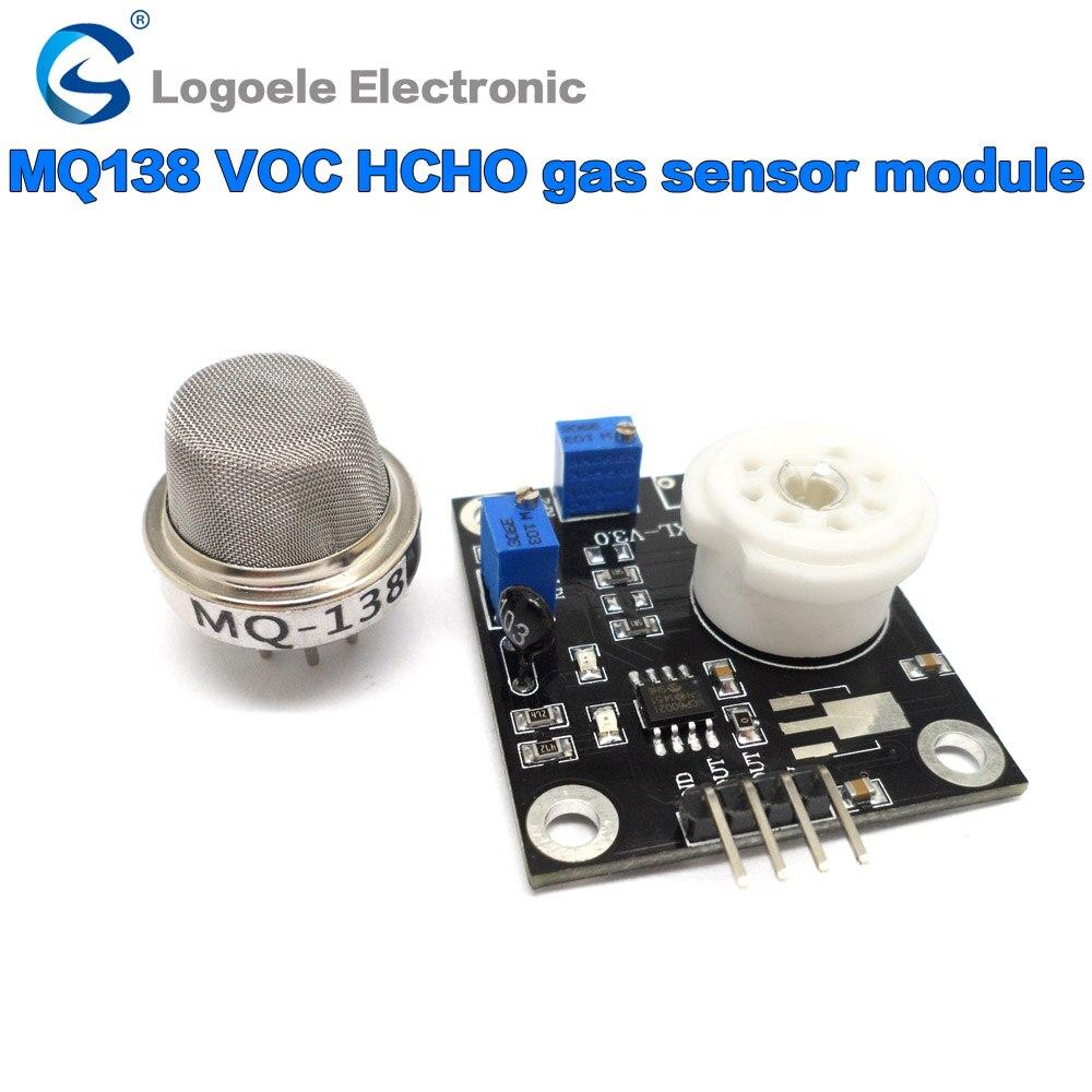 MQ-138 qualitative detection, semiconductor heating MQ138 VOC HCHO formaldehyde volatile organic gas sensor module 1pcs temperature and humidity voc tvoc co2 formaldehyde 5in1 detection sensor