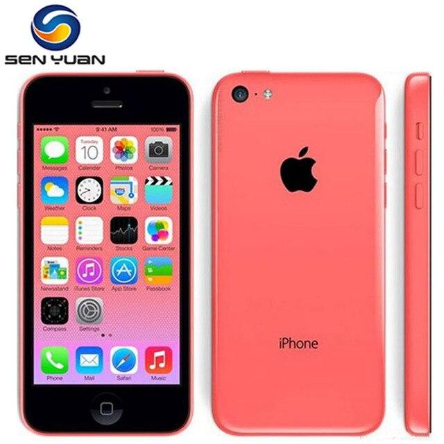 """Оригинальный разблокирована apple iphone 5c ios двухъядерный 8 ГБ/16 ГБ/32 ГБ 8mp камера 4.0 """"wi-fi gps 3 г мобильный телефон"""