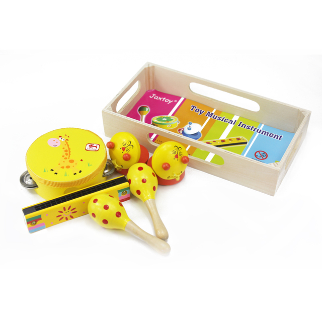 Wooden Musical Instruments Set for Children