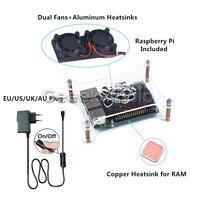Raspberry Pi 3 Model B Starter Kit Acrylic Clear Case Enclosure Shell 5V 2 5A Switch