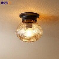 IWHD Americano LEVOU Luzes de Teto Moderno Simples Lâmpada Com Vidro Abajur Luminárias de Teto Para Iluminação de Casa Lamparas De Techo Luzes de teto     -
