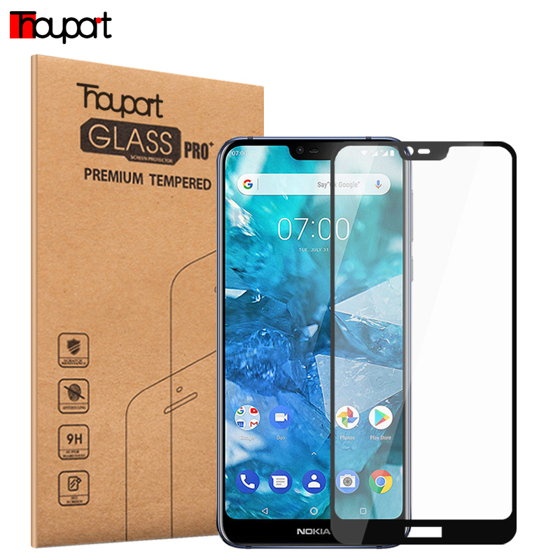 Tempered Glass For Nokia 7 Screen Protector Protective Film Glass For Nokia 7.1 Plus / X7 Display Full Cover Glass Color Frame