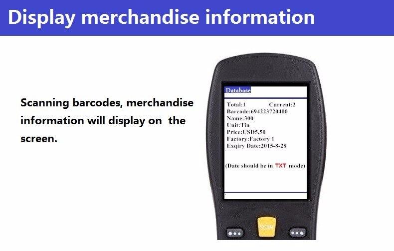 Inventário Pega Terminal PDA Scanner de código