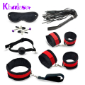 7 Pcs/set Sex Bondage Kit Fetish Restraint Sex Toys for Couples Foot Handcuff Ball Gag Whip Collar Eye Mask Fun Adult Sexy Game