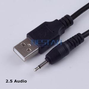 1m 2.5 USB USB2.5 Mono audio line USB 2.0 to DC 2.5mm elbow 2A charging line USB Jack Plug Aux DC2.5mm Audio cable(China)