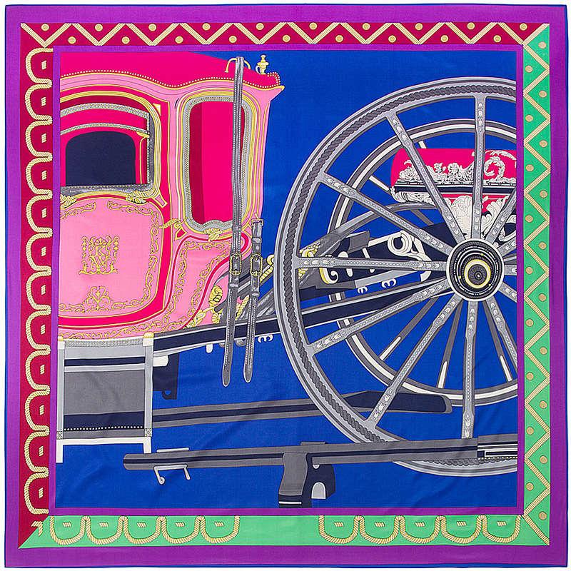 حك الحرير المرأة وشاح 130 * 130 اليورو ديلا كافاليريا الفروسية سلسلة طباعة الأوشحة مربع جودة عالية هدية كبيرة الأزياء شالات