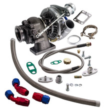 T04E T3/T4 Turbo A/R .63 420HP STAGE III BOOST TURBO CHARGER + WG + alimentazione olio + linea di scarico turbocompressore 420HP
