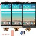 New cinza ouro branco lcd screen display toque digitador assembléia substituição + ferramentas + adesivo para lg g3 d850 d855 frete grátis