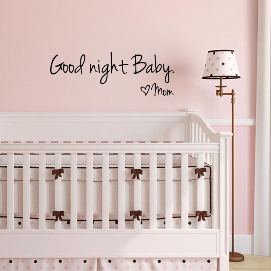 Us 10 37 Offhot Diy Wall Stickers Good Night Baby Mom Home Bed Decor Wall Sticker Decal Bedroom Vinyl Art Mural Kitchen Wallpaper A In Wall