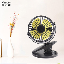 Mini clip fan student dormitory bed clip mute rechargeable usb big wind office bedroom small fan ITAS6661A creative electric fan mini student hostel usb convenient carry it small fan rechargeable mute bed strong comfortable soft