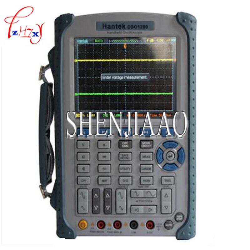 1PC DSO1200 Handheld Portable USB Oscilloscope Scope DMM 200 MHz 500MSa/s 5.7 2Ch осциллограф siglent sds1102dl 100 2 7 32kpts 500msa s sds 1102dl