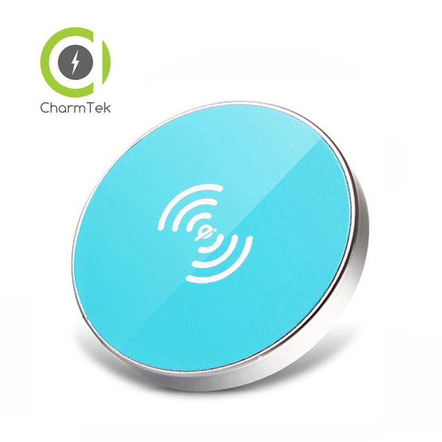 CharmTek New Qi Wireless Charging Charger Pad With Voice Indicator