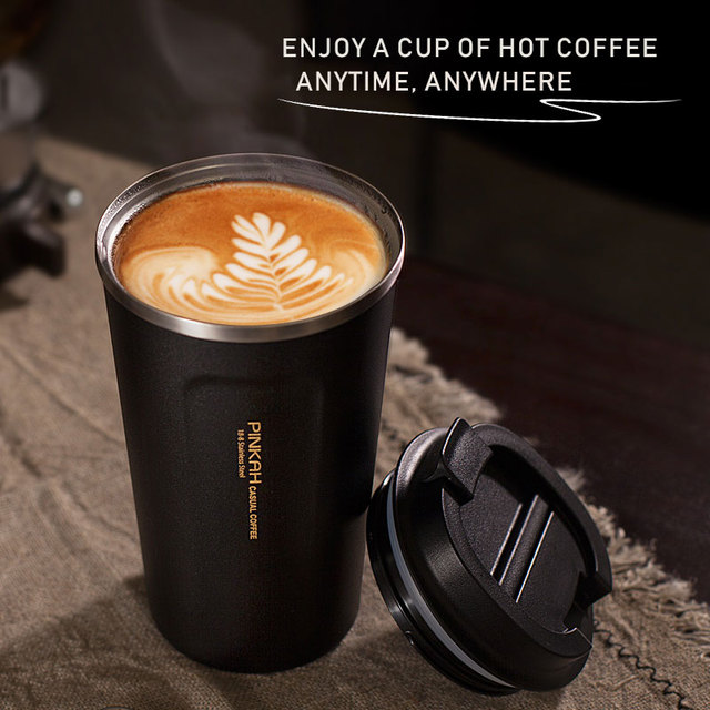 Hot Sale 380 & 510ml 304 Stainless Steel Thermo Cup Travel Coffee Mug with Lid Car Water Bottle Vacuum Flasks Thermocup for Gift
