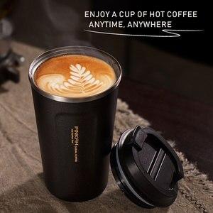 Image 3 - Venda quente 380 & 510ml 304 aço inoxidável copo thermo caneca de café viagem com tampa garrafa de água do carro garrafas de vácuo thermocup para o presente