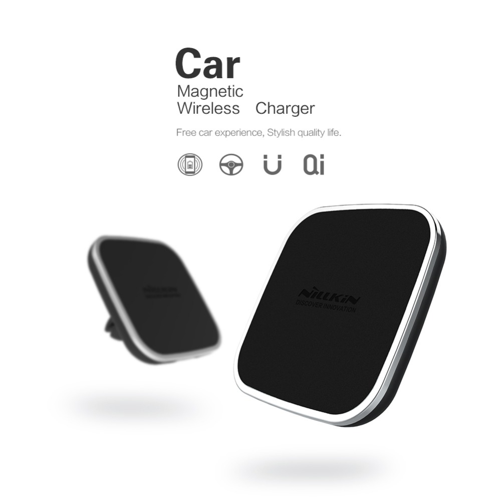 Nillkin QI Wireless Car Charger Holder Magnetic Air Vent Mount Pad for Samsung S6 S7 S7