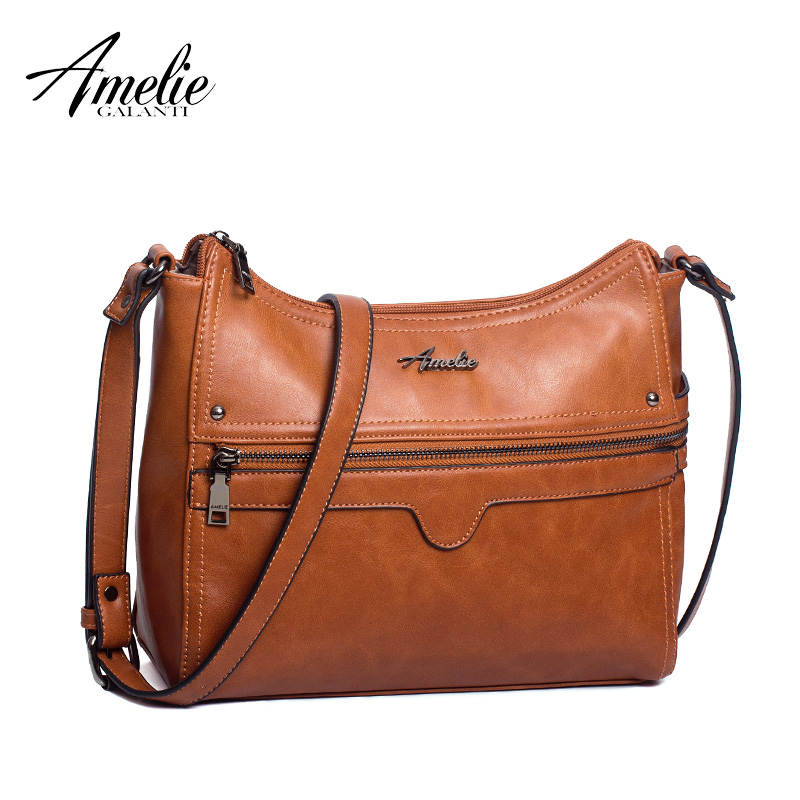 AMELIE GALANTI female shoulder bags crossbody bags for women 2018 multi pockets PU leather amelie galanti women s small crossbody bags messenger bag shoulder bags pu leather hobo bag