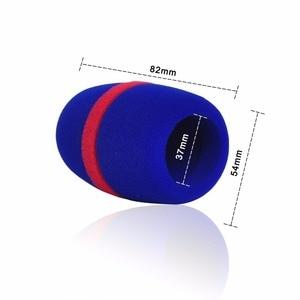 Image 3 - WS 01 çeşitli renkler kalınlaşmak formu profesyonel mikrofon ön camları Mic kapak koruyucu ızgara kalkan yumuşak sünger kap