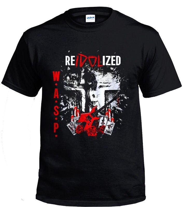 W.A.S.P. BAND HEAVY METAL VINTAGE RETRO Gildan black Men T-shirt size S-2XL O-Neck Short-Sleeve T Shirts