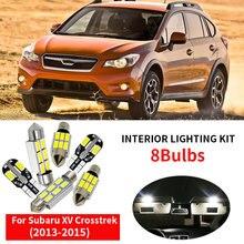 Автомобильные аксессуары 8x, светодиодсветильник лампочки, лампы для подсветки 2013, 2014, 2015, Subaru XV Crosstrek, купольная карта, лампа для номерного зн...