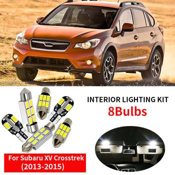 8x akcesoria samochodowe LED żarówki zestawy dla 2013 2014 2015 Subaru XV Crosstrek mapa Dome bagażnika tablica rejestracyjna lampa tanie i dobre opinie IKVVT oświetlenie tablicy rejestracyjnej 2 4W High Quality 5630 SMD LED Bulb Festoon-31mm 12 v Do samochodów Subaru 300LM