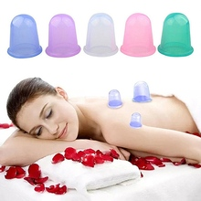 New Body Facial Silicone Vacuum Cans Massage Cupping Devices Suction Cup Pain Relief Anti-cellulite Slimming Massage Cups цена