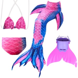 Image 3 - Children Mermaid Tails With Monofin Fin Cosplay Costume Girls Kids Swimsuit Ariel Swimmable for Swimming
