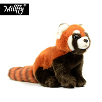 New Arrival Millffy 1PC 23cm Realistic Toy Red Panda Bear Cat Lifelike Soft Toys Plush Lesser Panda Doll for Kids Gifts