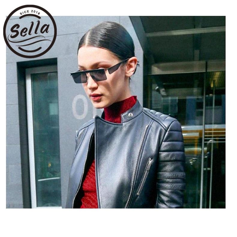 Sella New Trending Square Small Sunglasses Brand Designer Women Men Retro Fashion Colorful Tint/Clear Lens Eyewear Glasses UV400