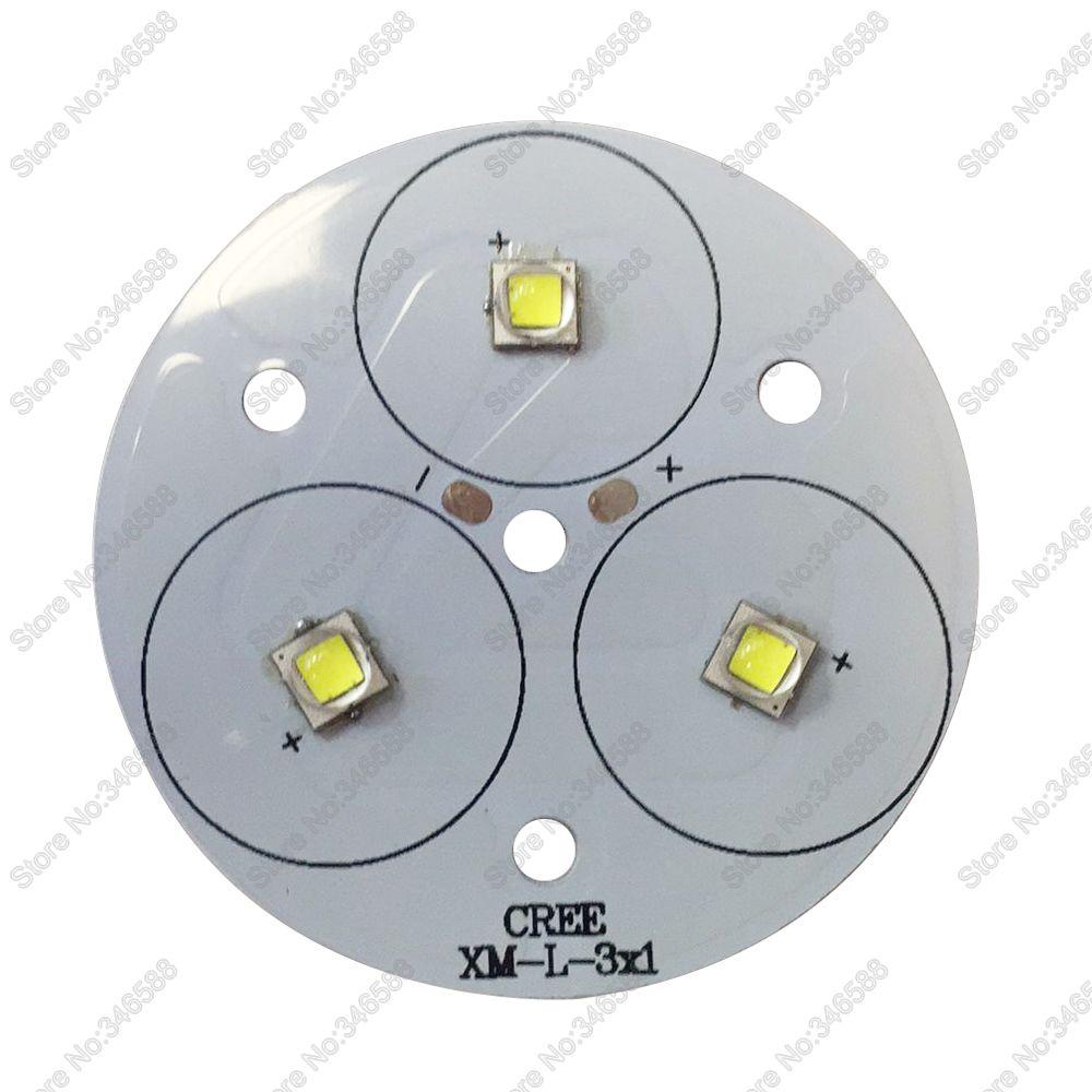 DIY Flashlight Torch 3* Cree XML2 XM L2 High Power LED Emitter Cool ...