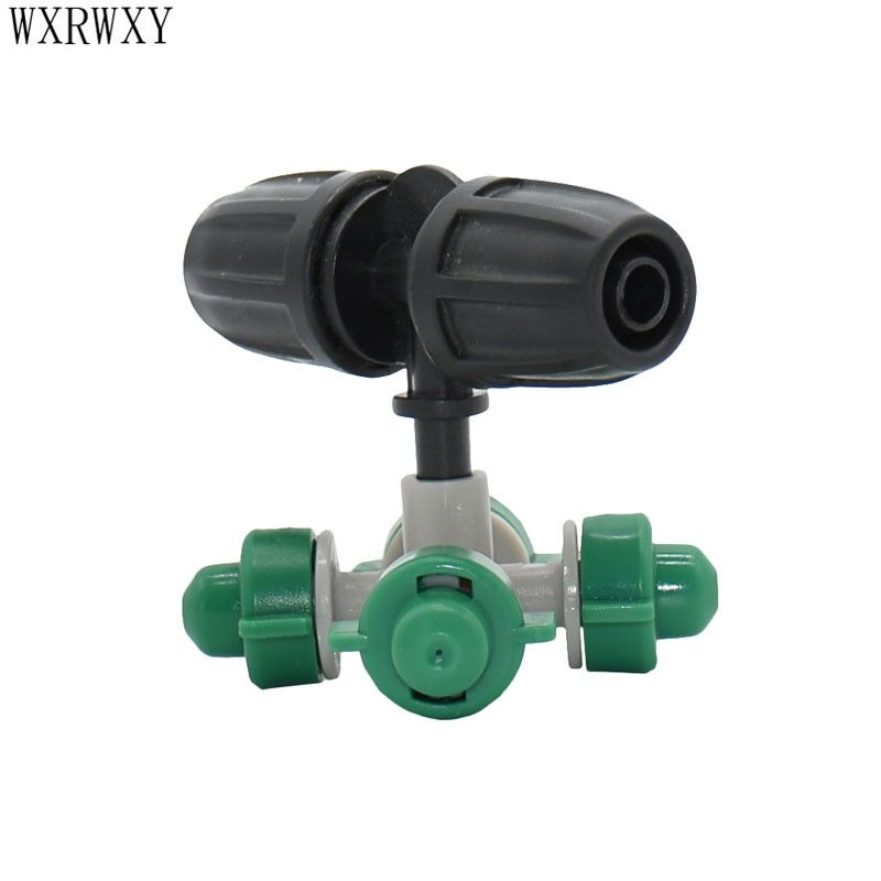 Drip Irrigation For Greenhouse Cross Water Nozzle Sprinkler Misting Nozzle Garden Sprinklers For 8/11 Hoses 2pcs