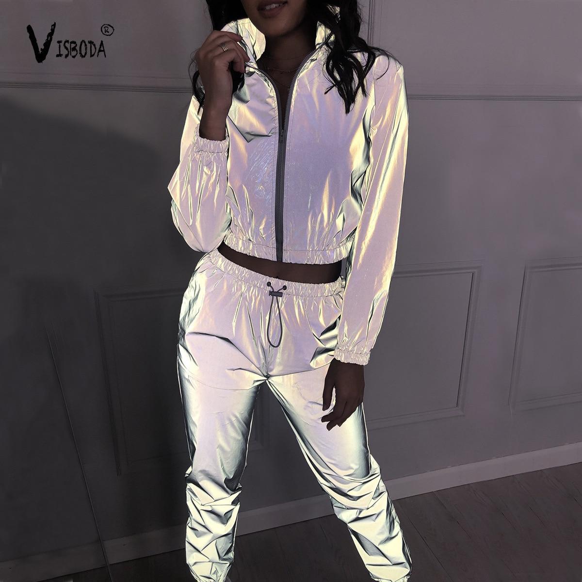 women-tracksuit-2-piece-set-windbreaker-reflective-crop-top-pants-fashion-female-loose-zipper-jacket-coat-lounge-sets-plus-size