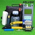 KELUSHI 19 шт./компл. FTTH-Fiber Optic Tool Kit с Измерителя Оптической Мощности FC-6S Волокна Кливер и Visual Fault Locator