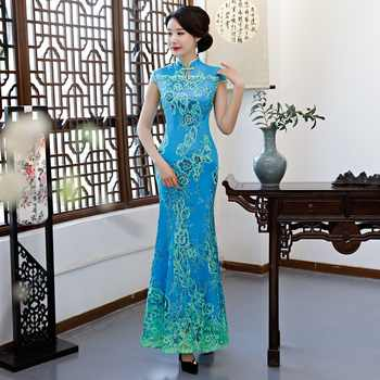 Green Vintage Chinese Style Wedding Dress Retro Long Gown Marriage Cheongsam Qipao Party Evening Dress Vestidos Clothe S-4XL - DISCOUNT ITEM  53% OFF All Category