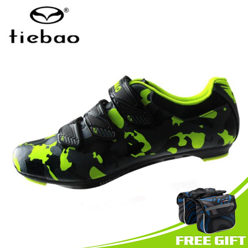 TIEBAO Road Cycling Shoes 2018 Men Nylon Bike Shoes Self-Locking Pro Bicycle Lock Shoes Sneakers Zapatillas Ciclismo Athletics santic road cycling shoes pro carbon fiber road bike shoes ultralight athletics self locking bicycle shoes zapatillas ciclismo