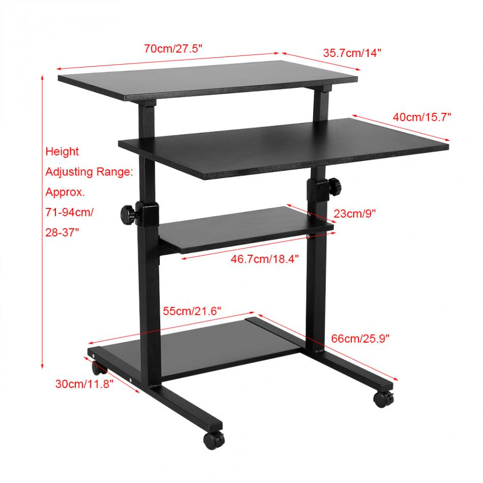 Laptop Desks Imported From Abroad Lifting Mobile Computer Desk Bedside Sofa Bed Notebook Desktop Stand Table Learning Desk Folding Laptop Table Adjustable Table Furniture