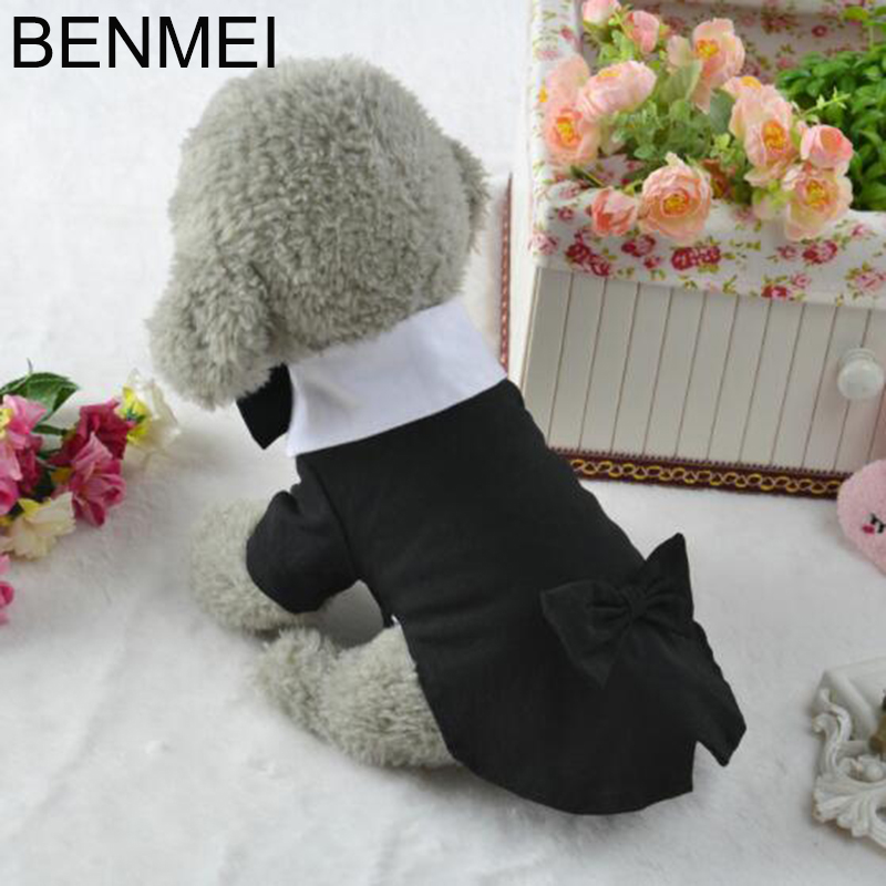BENMEI 2018 Puppy Clothes Dog Wedding Dress Tuxedo Suit Coat With Chihuahua Poodle Pug French Bulldog Dog Costume Pet Apparel