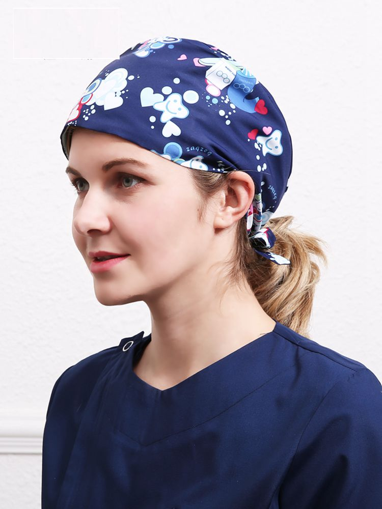 Unisex Seal Comfortable Scrub Doctors Surgical Cap Doctor Nurses Hospital 100% Polyester Medical Cap Adjustable ZAQ07