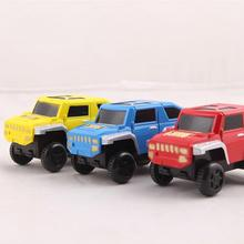 Electric track toy racing car Supplementary accessories railway cars 8cm*4.5cm radom colors Plastic creative toys for children
