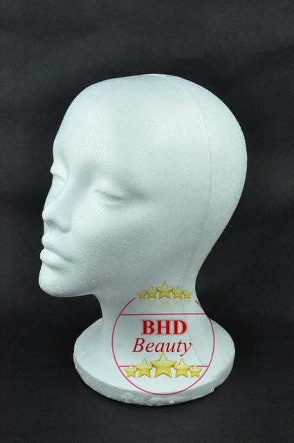 """11 """" de poliestireno maniquí maniquí espuma cabeza peluca / collar / del sombrero / el casquillo / gafas / pantalla micrófono LX"""