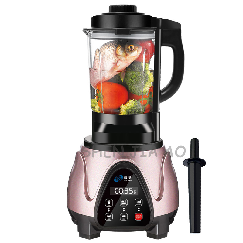 1.8L household electric mixer food broken wall cooking machine automatic soybean milk supplement food juicer 220V 2200W multi function automatic food blender mixer juicer wall breaking machine soybean milk chopping shredding food processor