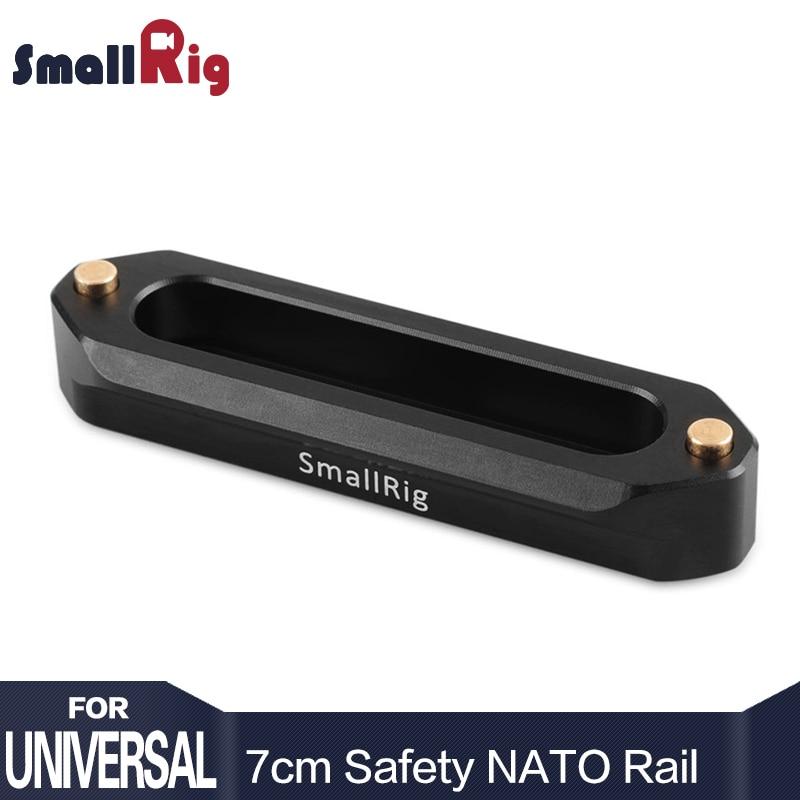 SmallRig Nato Ferroviário de Segurança de Liberação Rápida 70mm Longo com Mola Pinos para RED Epic/Escarlate, magia negra-1195