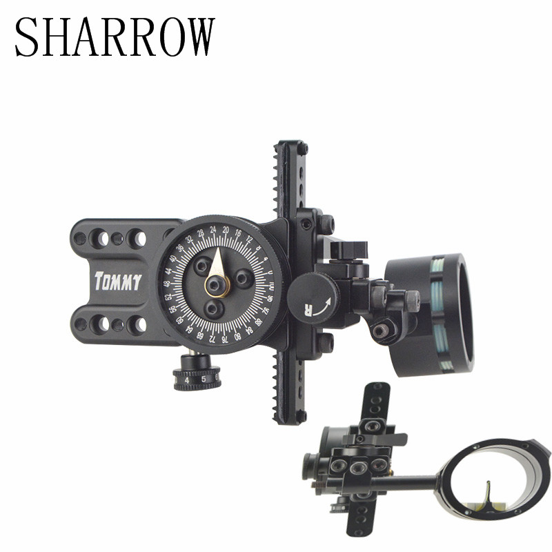 1pc Black Single Pin Single Needle Sight Aluminum Adjustable Pointer Outdoor For Bow Shooting Accessories Equipment skin needle single
